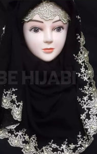 Fancy Embroidery Scarf with Cap be Hijab