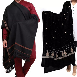 Couple Pack 2 Black Dhussa Shawl.