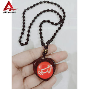 3 pieces Labbaik ya Hussain slwt 3D Locket Pendant