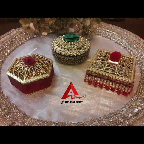 12 pieces of Bidd boxes Nikkah giveaway boxes