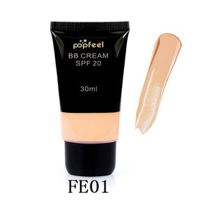 Waterproof SPF 20 Sun Block Whitening Matte Face Nude Liquid Foundation BB Cream
