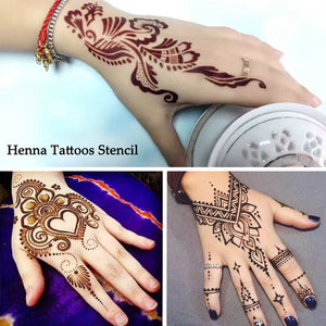 Temporary Henna Templates Simply Mehndi Flowers Patterns