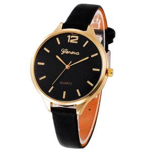 Women Watch Casual Quartz Checkers Faux Leather Analog Wrist relogios de pulso feminino Waterproof