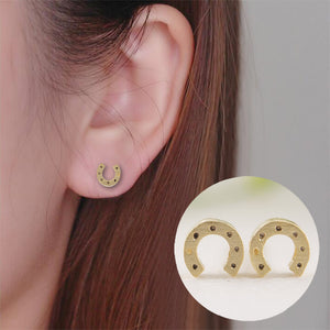 Unique Horseshoe Stud Earrings