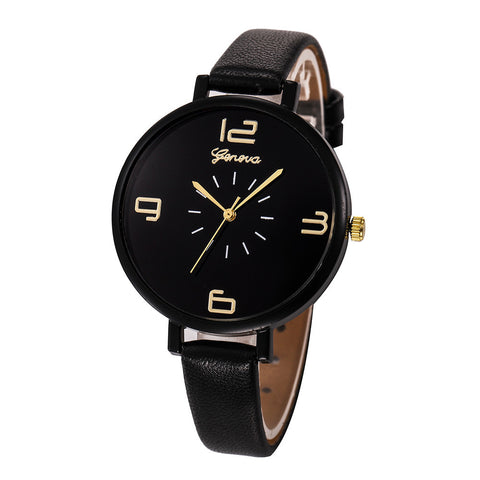 Women Fashion Quartz Watch Faux Leather Watches