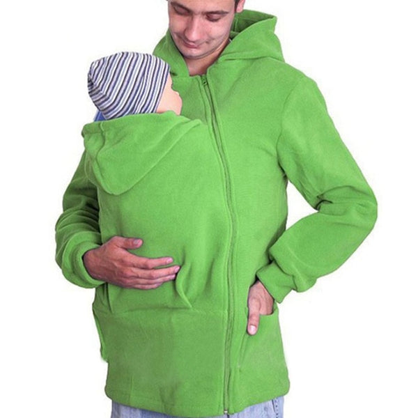Kangaroo Hoodies Unisex Sweatshirt Baby Carrier Wearing Baby Frock Zipper