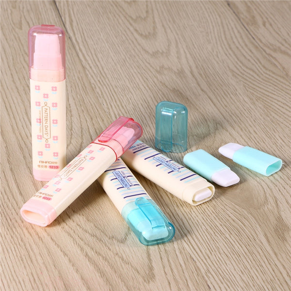 4pcs Creative Writing Stationery Three Layers Erasers Students