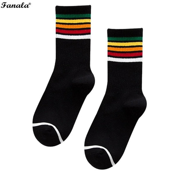 Socks Soft Warm Casual Cotton Striped Socks thigh high socks