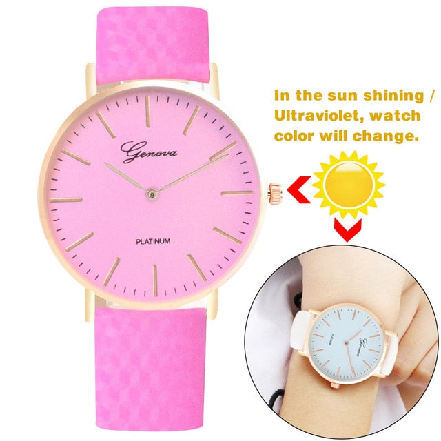 direct sunlight change color casual watch ultraviolet discoloration