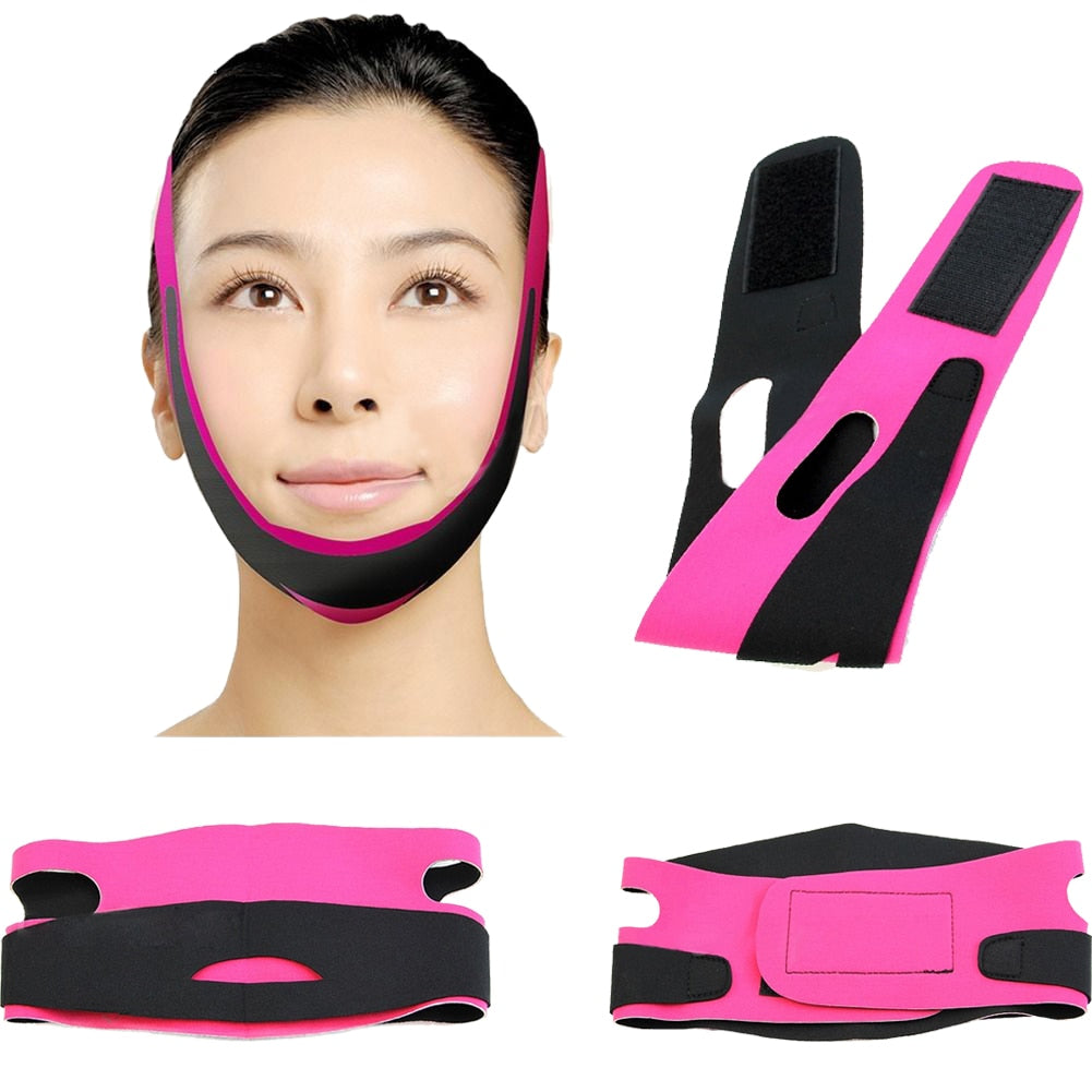 Chin Cheek Slim Lift Up Anti Wrinkle Mask Strap Band V Face Line Belt Women Slimming Facial Beauty Tool