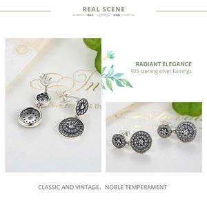 925 Sterling Silver Radiant Elegance Earrings Clear CZ Crystals