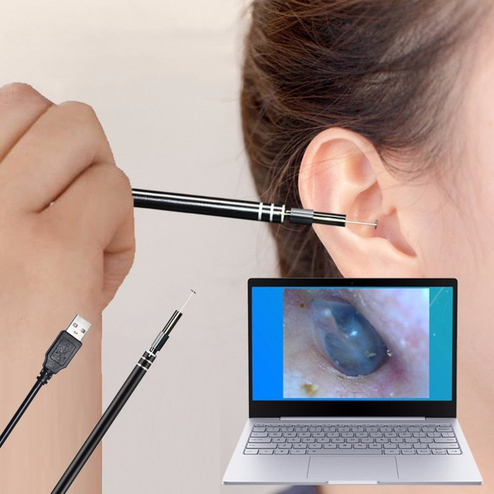 USB Ear Cleaning Tool HD Visual Ear Multifunctional  With Mini Camera Pen Ear Care In-ear Cleaning Endoscope