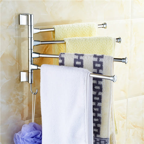 Stainless Steel Towel Bar Rotating Towel Rack Bathroom Kitchen Towel rack