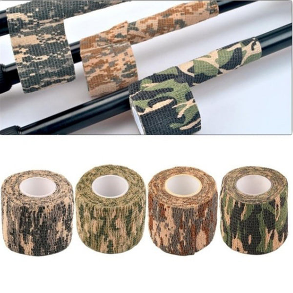 Desert Tape Self-adhesive Grid Masking Tapes Non-woven Camouflage Tape