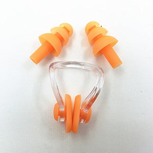 Waterproof Soft Silicone Swimming and sleeping Set Nose Clip Ear Plug noiseless