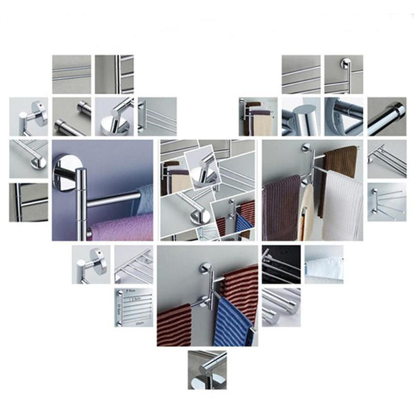Towel Rack Stainless Steel 2/3/4  Bathroom Kitchen Wall-mounted Towel Polished Rack