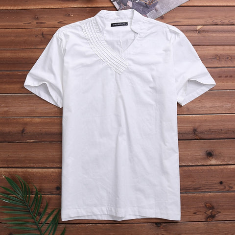 Linen Shirt Men Slim fit Casual Dress