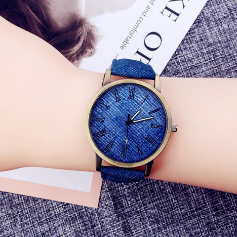 Women Watch Synthetic Band Pointer Analog Round Quartz Watches