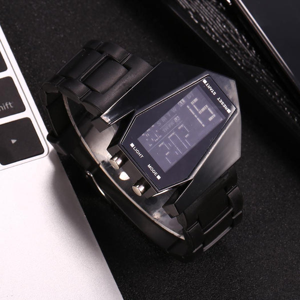 Electronic LED Watches Silicone Quartz Light Digital Sport Strap