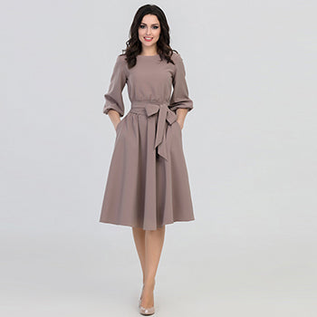O-Neck Dress 2018 Elegant Dresses Casual Loose Dress