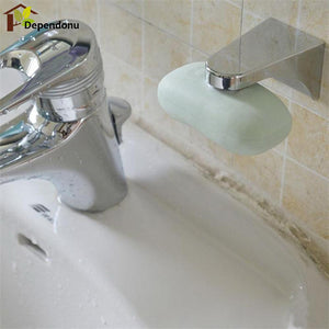 Magnetic Soap Dish Container Dispenser Wall Attachment Adhesion Soap Holder