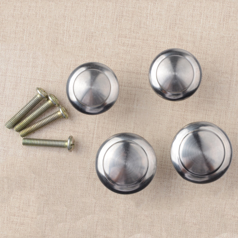 10pcs/lot Round Cabinet Pull Knobs Drawer Stainless Steel