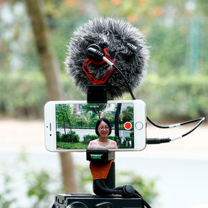 Tripod Mount with Cold Shoe Mount ,Video Handle Grip Strap microphone for smartphone video recording