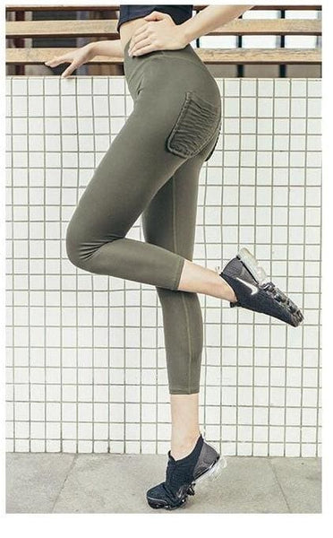 Fashion Two Pocket Leggings Fitness Pants