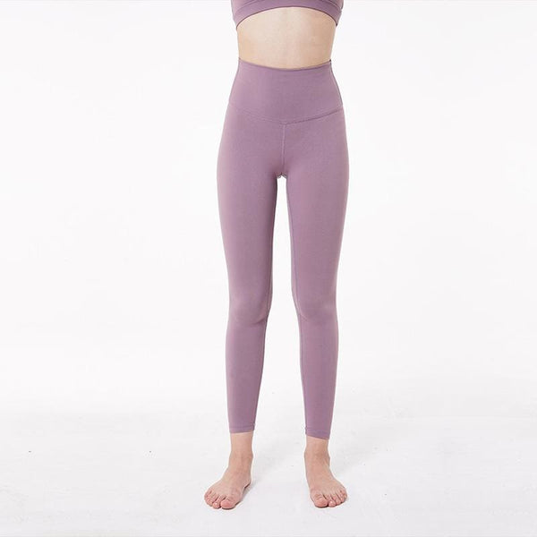 Full Length Yoga Leggings - Rose&Red - pink / 10