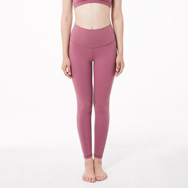 Full Length Yoga Leggings - Rose&Red - red / 10