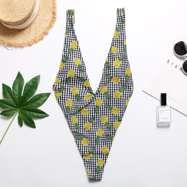 Pineapple Swimwear One-piece - as picture / L