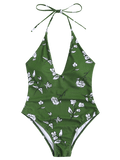 Printed V Neck Shaping Swimsuit