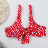 Red Front Knot Bikini Set