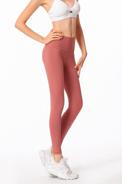 Very Comfortable Fitness Leggings-Salmon
