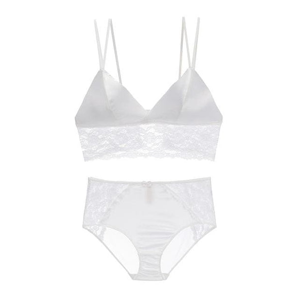 Women Underwear Lingerie Set - white / S