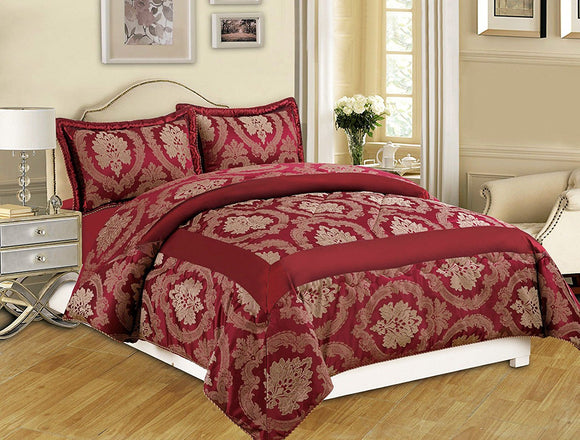 Luxury 3 Piece Jacquard Quilted Bedspread with 2 Pillow Shams