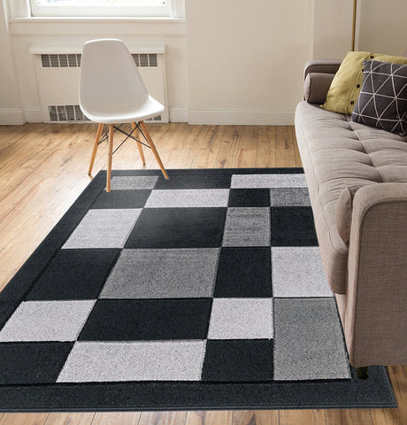 Thick Rugs Carved Shape Buy Online - Black & Grey Color 2019