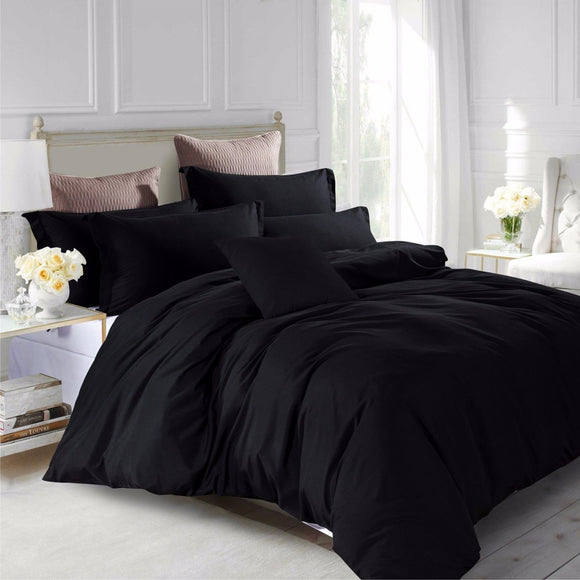 Luxury Super Soft Plain Duvet Cover Sets with Matching Pillows
