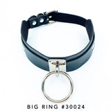 Vegan Leather Collar with Big Ring #30024 / Vegan Leather Collar with Multi-Chains #30025 - StyleWanderlustUSA