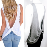 Open Back Tank Top with Low Twist Detail  #10104 - StyleWanderlustUSA