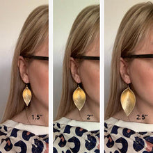 Katie - Leather Leaf Shaped Earrings
