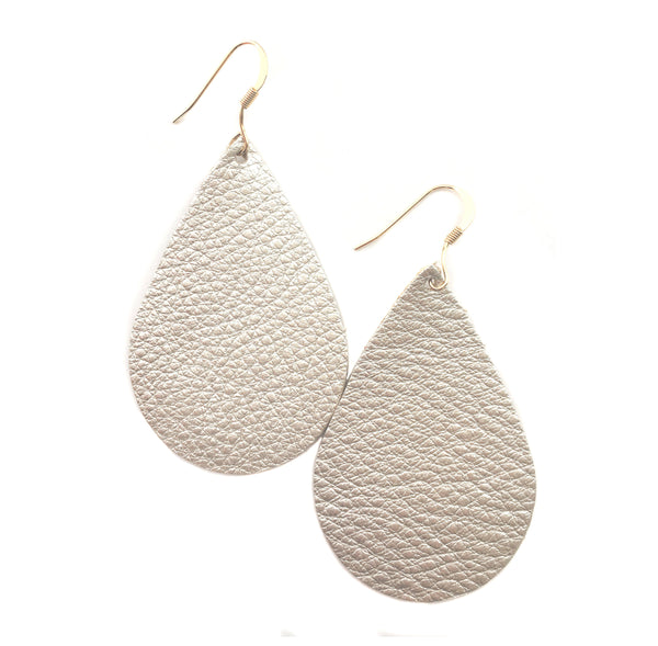 silver-gold-champagne-teardrop-leather-earrings