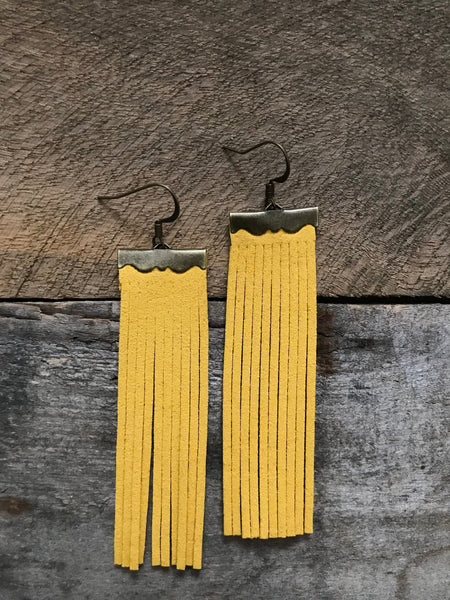 sydney-suede-leather-fringe-earrings-in-canary-yellow