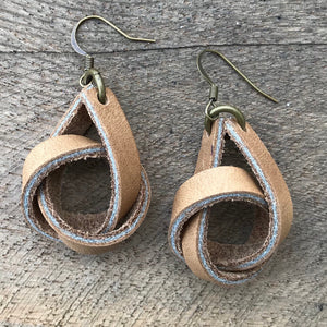 Anne - Leather Knot Earring