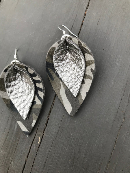 katie-double-layered-leather-leaf-shaped-earrings-in-grey-and-green-camo-and-metallic-gunmetal