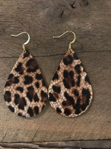 leopard-teardrop-leather-earrings