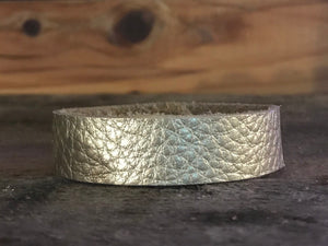 champagne-thin-cuff-leather-bracelet
