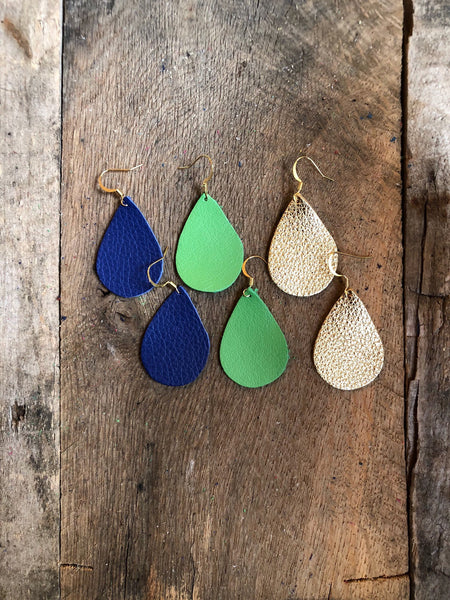 navy-blue-teardrop-leather-earrings