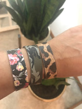 Patterned Thin Cuff Leather Bracelet