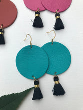 Tassel Patricia - Summer Vibes Collection Leather Circle and Tassel Earrings